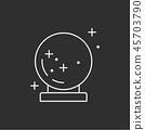 Magic sphere. Magic vector icon. 45703790