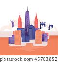 New York skyline. 45703852