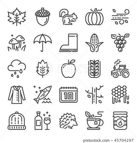 autumn pixel perfect icons 45704297