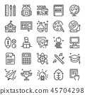 back to school pixel perfect icons 45704298
