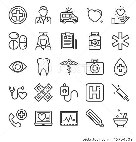healthcare pixel perfect icons 45704308