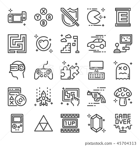 video game pixel perfect icons 45704313