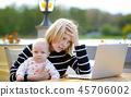 laptop, parenthood, people 45706002