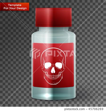 Medicine bottle with poisonous liquid 45706269