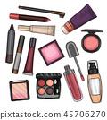 cosmetic, lipstick, mascara 45706270