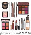 cosmetic, lipstick, vector 45706276