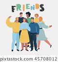 Group of happy talking friends 45708012