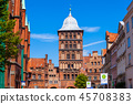 Burgtor Gate in Lubeck, Germany 45708383