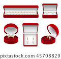 Jewelry In Boxes Realistic Set 45708829