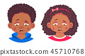 portrait of african boy and girl 45710768
