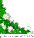 Watercolor clover card 45712524