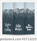 Three banner landscape winter forest 45713223