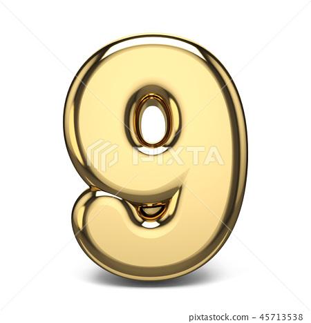 Golden number 9 NINE 3D 45713538