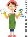 주부 여자 청소 가사 45715844