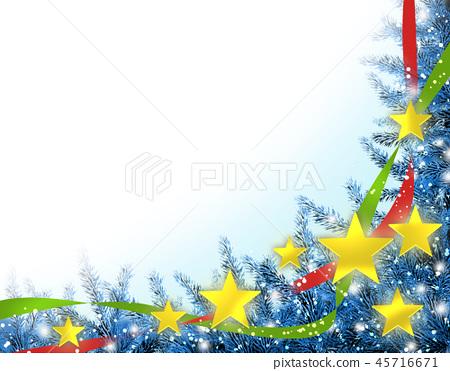 聖誕節聖誕節背景樹雪花框架 45716671