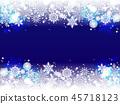 雪花也背景 45718123