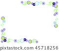 雪割草 꽃 프레임 45718256