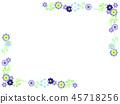 Snowy Grass Flower Frame 45718256