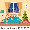 vector, room, sofa 45719367