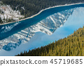 Peyto Lake with reflection of Rocky Mountain 45719685