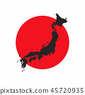 Japan map on white background. 45720935