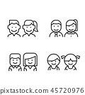Toilet, Restroom, WC icon set in thin line style 45720976