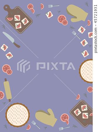 Food Border decoration, Bakery design background 45721931