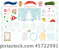Hand-painted winter material 1 Watercolor 45722091