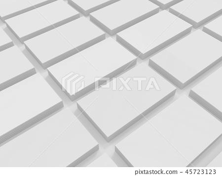 Blank 3D illustration business cards mock-up 45723123