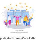 Social, network, concept 45724507