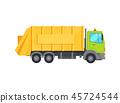garbage trash truck 45724544