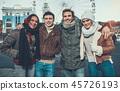 winter, friend, happy 45726193