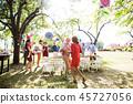party, garden, family 45727056