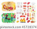 bbq barbecue barbeque 45728374