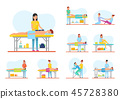 Medical and Relaxing Massage Session Banner Set 45728380