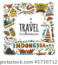 indonesia icon culture 45730712