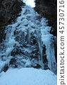 ฤดูหนาว,น้ำตก,ตก 45730716