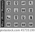 Flat steel button 45735190