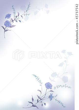 Blue flower background material 45737542