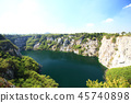 mining industry,  lake and  mountain 45740898