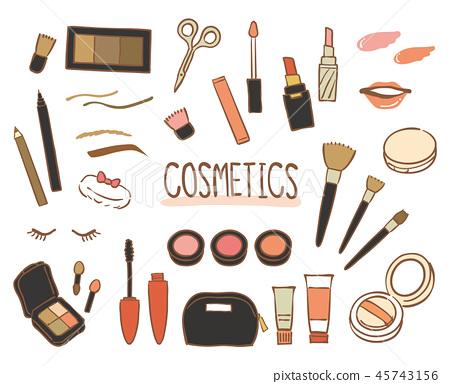 手绘化妆品套装 45743156