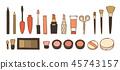 手绘化妆品套装 45743157