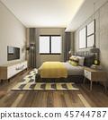 床 卧室 室内装饰 45744787