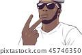Illustration of young black gang member 45746350
