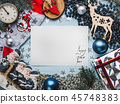 Greeting card. Merry Christmas and Happy New Year 45748383