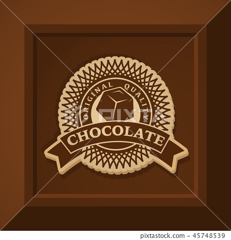 Vector chocolate logo template 45748539