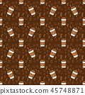 background coffee seamless 45748871