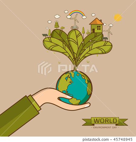 World Environment Day Vector illustration 45748945