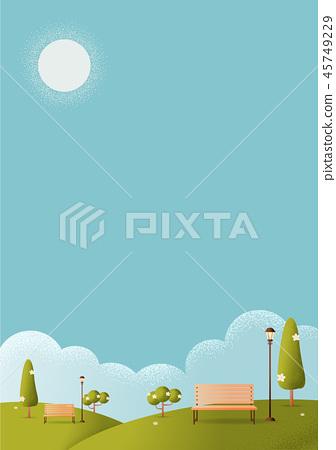 park Vector texture style concept illustration. 45749229