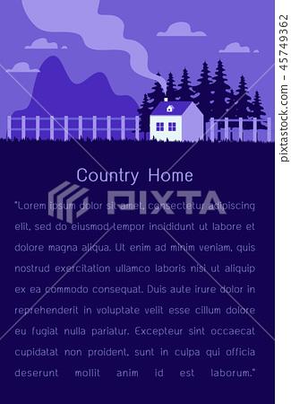 countryside scene modern flat design vector illust 45749362
